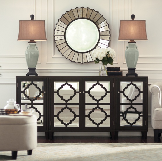 This is the Reflective Three-Piece Cabinet Set from HomeDecorators.com for $599. The white option is perfect for a more preppy look. This is great looking storage people!!
