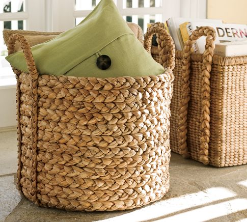 SPEND: The Beachcombers Extra Large Round Basket from Pottery Barn for $103 (on sale)