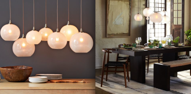 This is my West Elm splurge, their Glass Orb Chandelier for $499. Beautiful over that dining room table or above a kitchen island. Love.