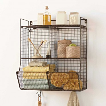 This is their Four-Bin Wire Hanging Shelf retailing for around $129 (sale price). This would maximize space and storage for any of those people who have a small bathroom just like me!