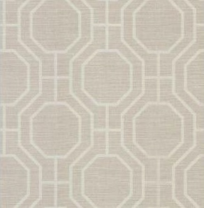 Brewster Geometric Wall Paper from Home Depot in Beige for $51.78/BM-Bolt.