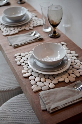 These beautiful things are just single tiles from a home improvement store! How simple and chic!