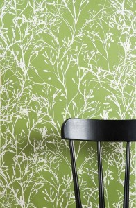 This is more of a splurge but this wall paper is from Ferm Living. Its their Wildflower Wallpaper in green for $110 per roll.