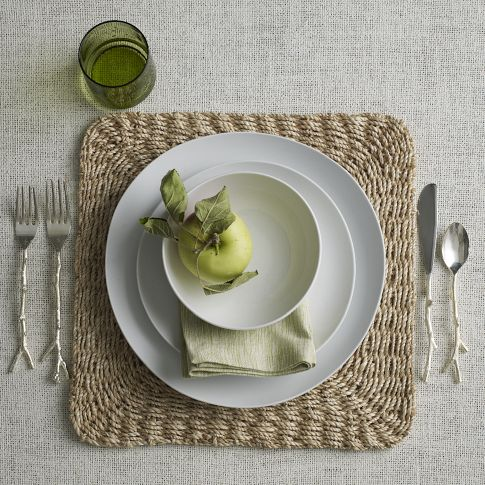 Abaca Chunky Square Placemat (Set of 2) currently on sale for $11 in West Elm's Market section