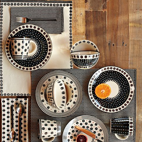 SPLURGE: This is a festive tableware set from West Elm called the Potter's Workshop Tableware in Dot. Each piece ranges from $8-12 and is ceramic. A little bit more easily broken but would make such a splash on any outdoor table!
