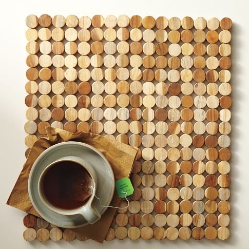 Wood Tile Placemat (Set of 2) currently on sale for $19 in West Elm's Market section