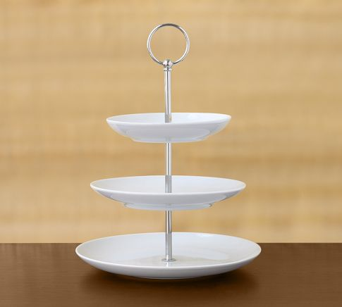 Last but not least is the Great White Tiered Stand at Pottery Barn for $45. Originally a cupcake tier for entertaining, this is perfect for separating the different size pieces of jewelry you may have!