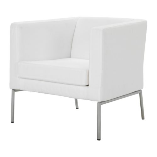 Two of the KLAPPASTA chairs in Nyarp White for $149 at Ikea.