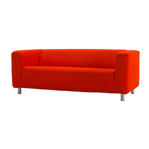 Add a bold pop of color to your breakfast nook with the SLIPPAN Loveseat in Granan red for $299 at Ikea.
