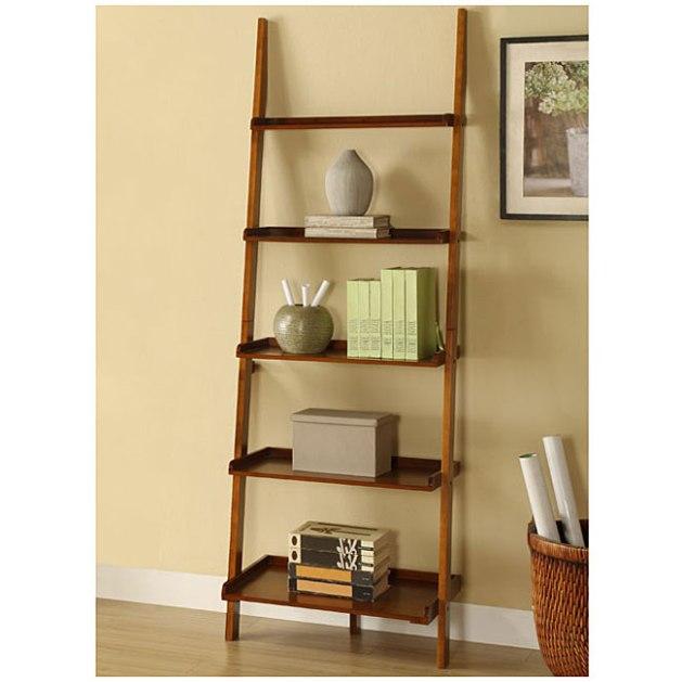 leaning shelf plans