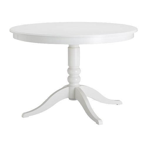 Finish it off with the LIATORP extendable table in white from Ikea for $279