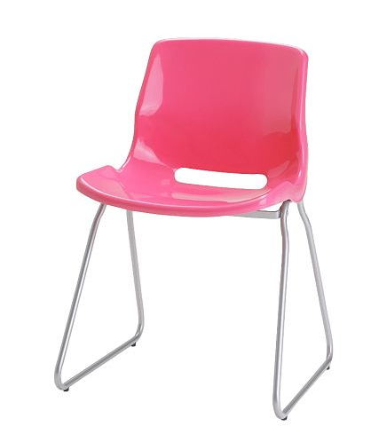 This is the SNILLE chair from Ikea for only $21.99! What a steal! Also available in red, black, white, green, and blue.