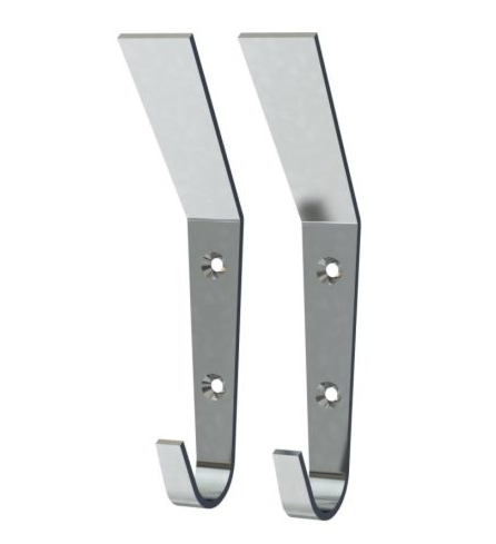 But if you're looking for something more like the inspiration image check out these BLECKA hooks from Ikea in stainless steel for only $5.99 for a 2 pack.