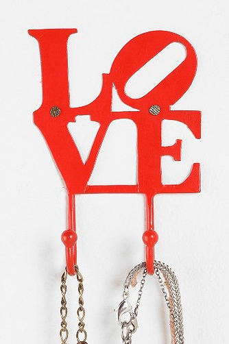 This Love Hook from Urban Outfitters is perfect! And only $8!
