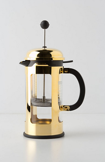this Classic Chambord French Press from Anthropologie for $70. Making coffee the old fashioned way never looked so good!