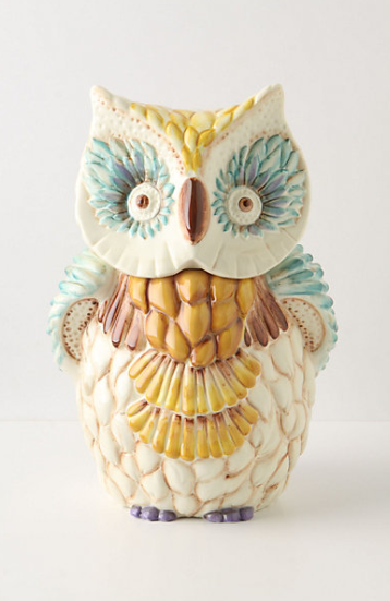 house those biscotti in this AMAZE Wide Eyed Cookie Jar from Anthropologie for $88.