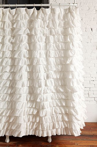 Waterfall Ruffle Shower Curtain for $59 from Urban Outfitters (on sale from $79)