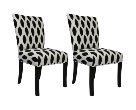 Add extra seating with these Sole Design Julia Chaz Dinning Chairs. A set of two from $234.99 from Overstock.com