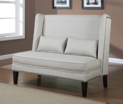 This Wing Back Natural Linen Loveseat from Overstock.com for $464.99