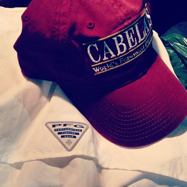 my purchase at Cabela's.... frat hat and PFG