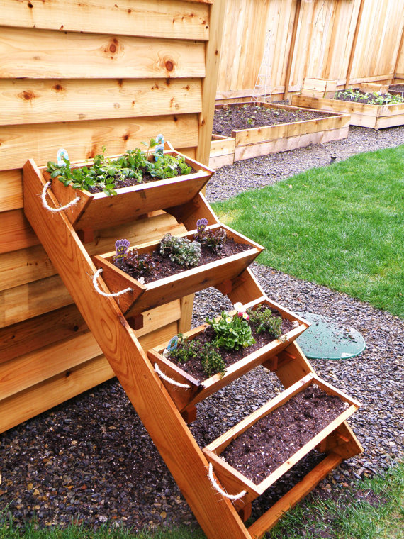 "36"" Cedar Herb, Tomato, Flower, and Strawberry gardening planter for $52.70 on RopedOnCedar Etsy's site! Plus there is free shipping!"