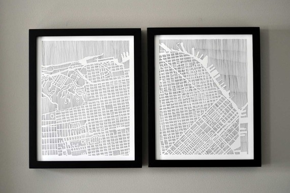 Here is her San Francisco diptych art print for only $40!