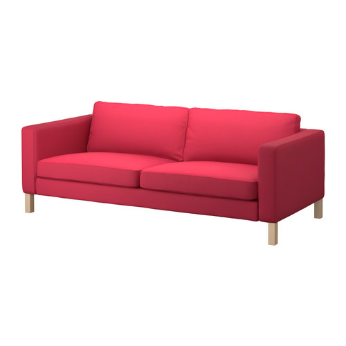KARLSTAD sofa in Sivik pink-red at Ikea for $499