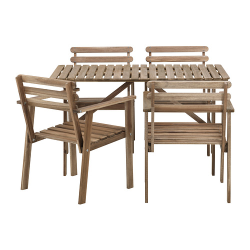 ASKHOLMEN outdoor suite in gray-brown. Its the perfect little set for a patio. All the grilling and great weather for this summer you will definitely put this to good use!