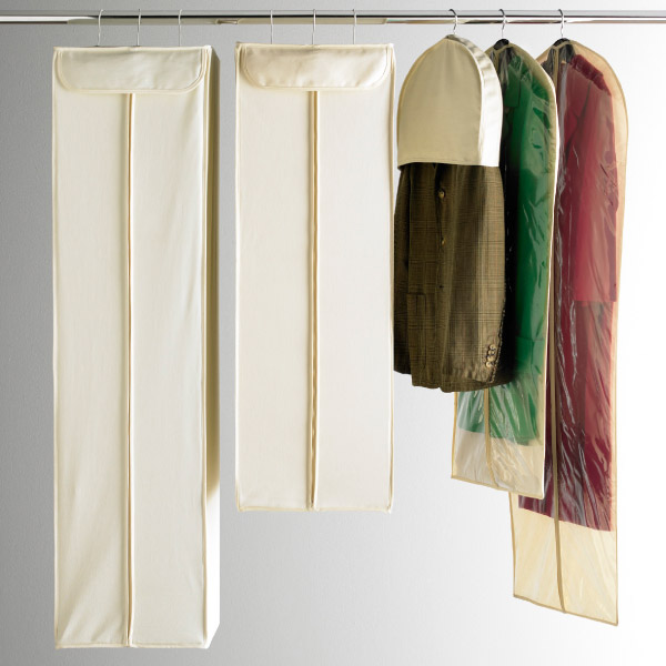 The BEST hanging garment bags from The Container Store ranging from $6.99-$19.99 *currently on sale