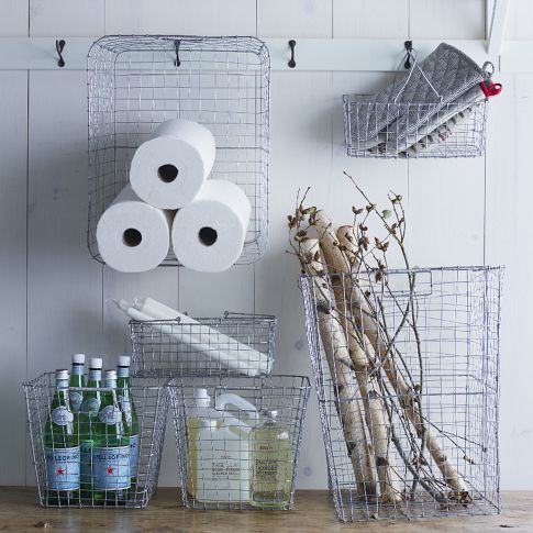 Wire Mesh Storage- Laundry Caddy $29 from West Elm