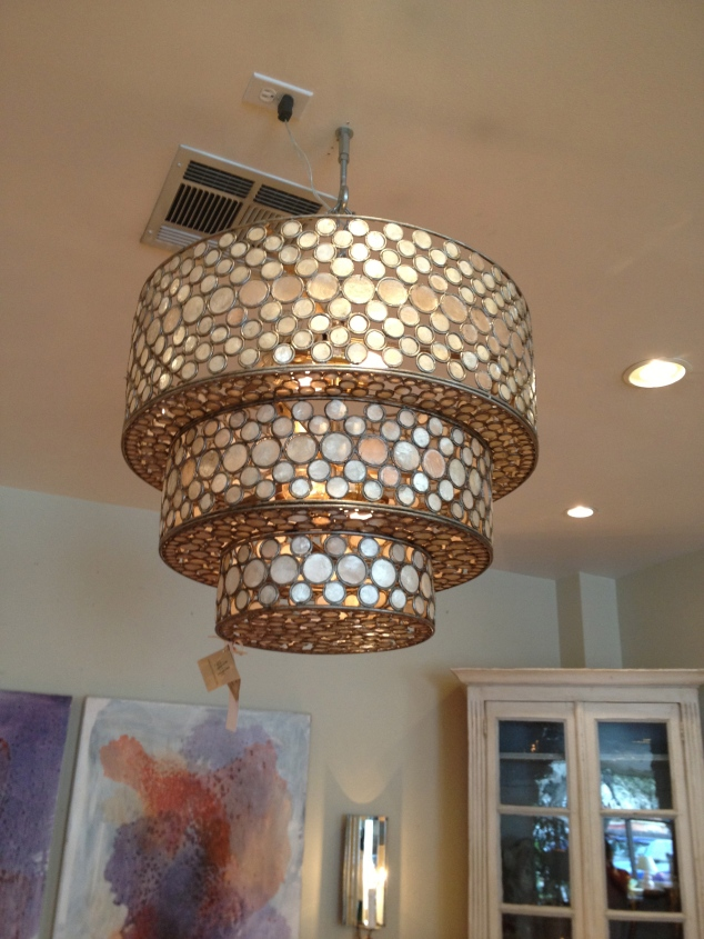 GORGEOUS LIGHT FIXTURE. This would be perfect for a living room or my office?! Yes.