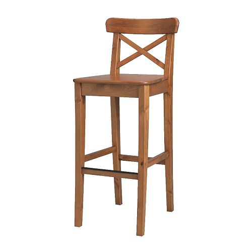 INGOLF bar stool with backrest. Perfect for any type of bar or countertop space in a very neutral color.