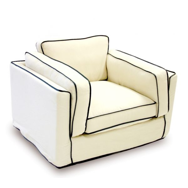 The mathching single seat for $799 from the South Beach by Armen Living collection at Madison Seating!