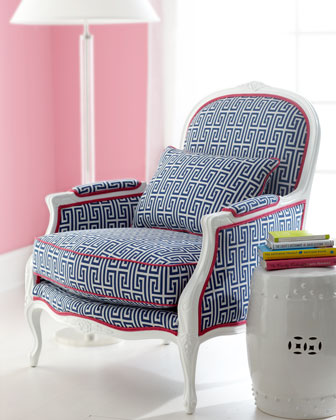 "Lilly Pulitzer ""Johanna"" Upholstered Armchair at Neiman Marcus for $1959.00"