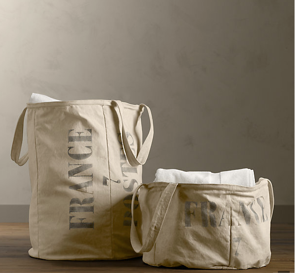 Salvaged Tarp Laundry Hamber $69-$79 from Restoration Hardware