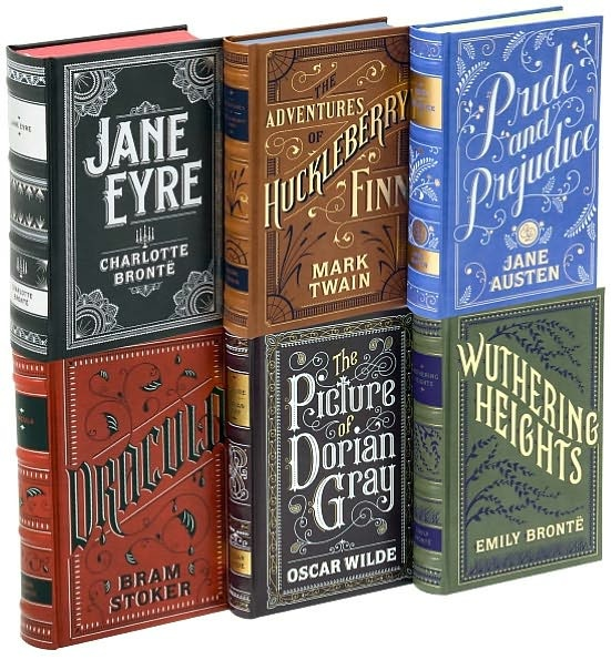 Look how amazing the typeface on these covers is! I LOVE this! Its the Classic Novel Box Set from Barnes and Nobel for only $63!