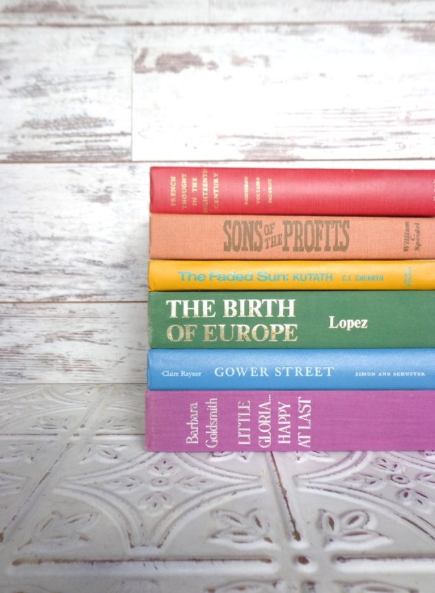 These are the Decorative Rainbow collection of books from Sorry Thank You 79's Etsy's Shop. This collection is only $45! This shop has all different colored book collections and would be an excellent resource! Most recently featured on Fossil.com's website under their Fossil Finds!