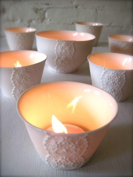 Lace inspired ceramics.