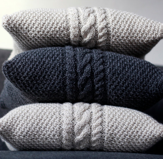 Because who has too may throw pillows?! These Cable Knit Pillow Covers are from  Pillow Link's Etsy Shop and are only $55 each!