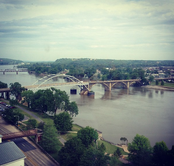The view of downtown Little Rock from the Marriot hotel we stayed at!