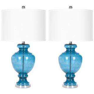 Put these lamps on either bedside table for a great pop of color! These are from Overstock.com and they are the Turquoise Glass Table Lamp set of 2 for $159.99