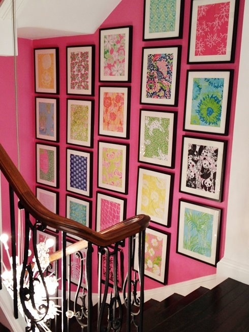 Framed patterns. Of course I love this one because these are framed Lilly Pulitzer patterns!