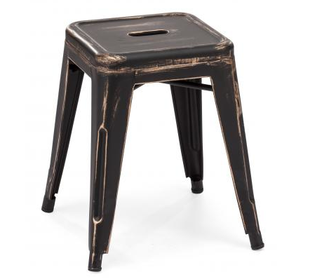 Gavin Stool in Ebony and Gold.