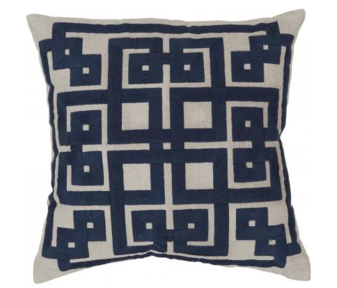 Domino Pillow in Cobalt