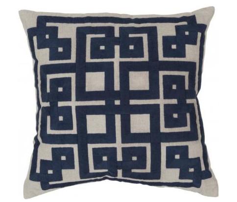 Domino Pillow in Cobalt