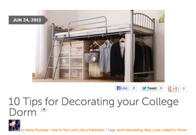 For the full article go to  http://blog.chegg.com/2013/06/24/10-tips-for-decorating-your-college-dorm/  or just click on the image above!