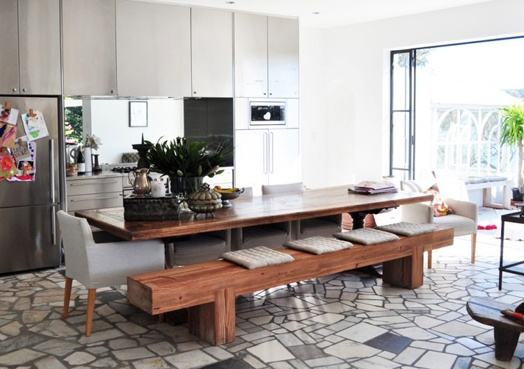 Dining rooms are a perfect place to try out bench seating if you're a little more casual and modern