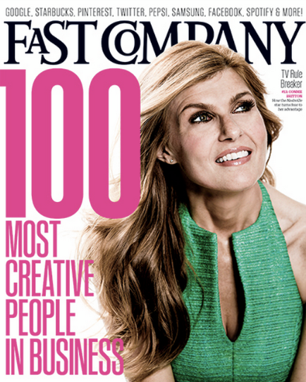 I originally bought this magazine just because it had Connie Britton on the front (hello I LOVE Friday Night Lights AND Nashville!) But it was such a good read about the amazing people in business and what creative things they are doing!