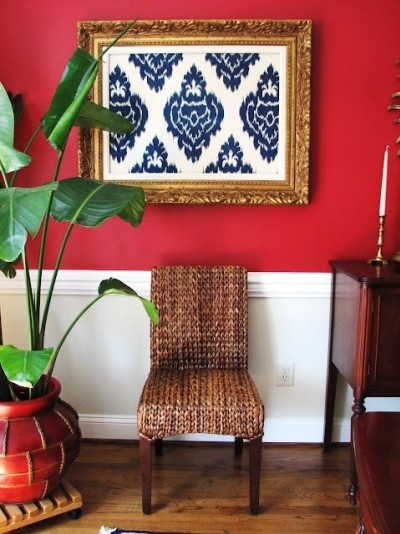 frame your favorite pattern or extra piece of your favorite ikat fabric
