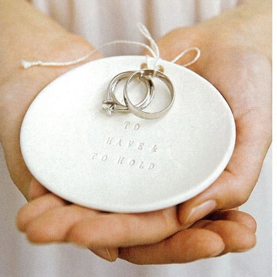 Such an amazing keepsake for your wedding. Here is their To Have and To Hold Ring Bearer Bowl for $48